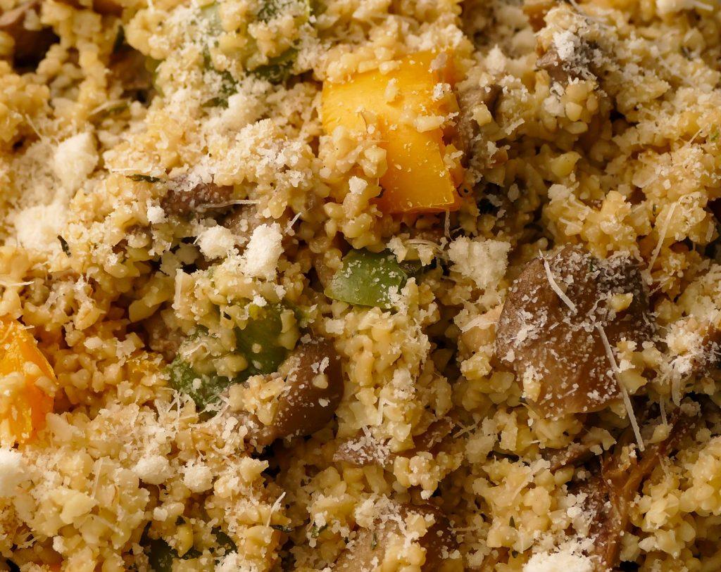 Bulgur - príklad jedla