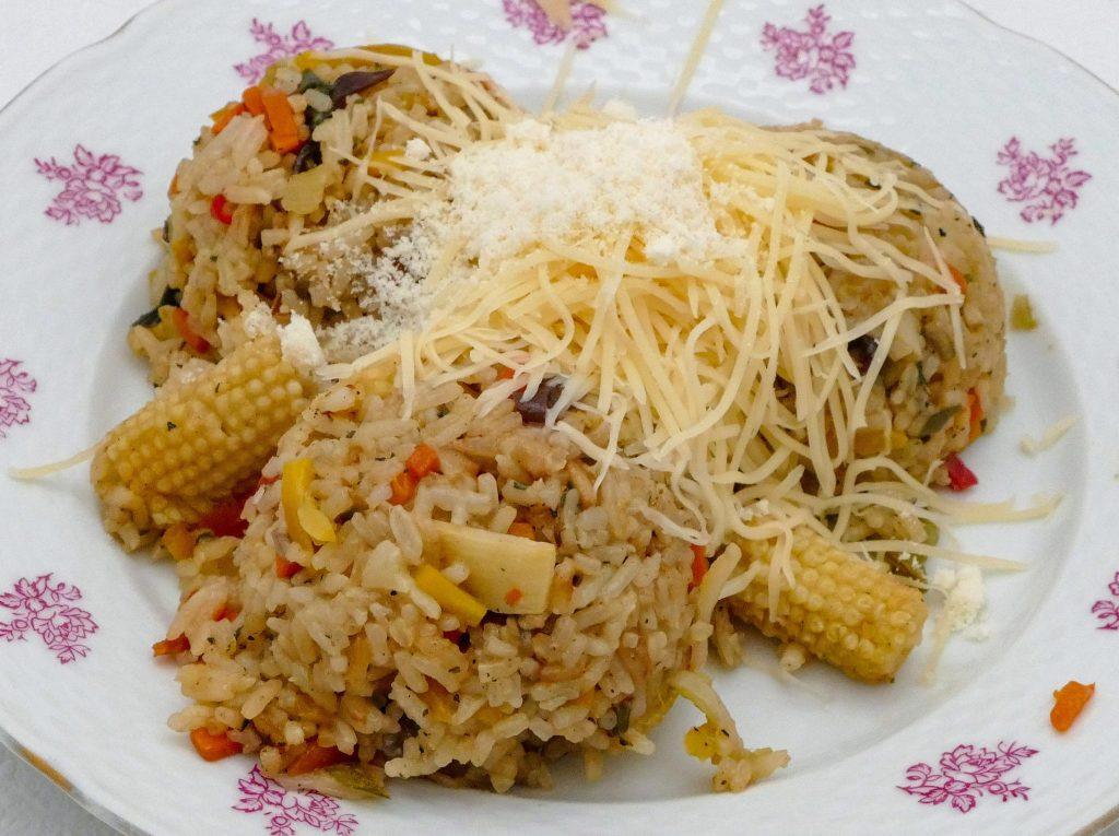Čo na obed? Ryža so zeleninou (automatické rizoto) a nízkotučným syrom Boryna