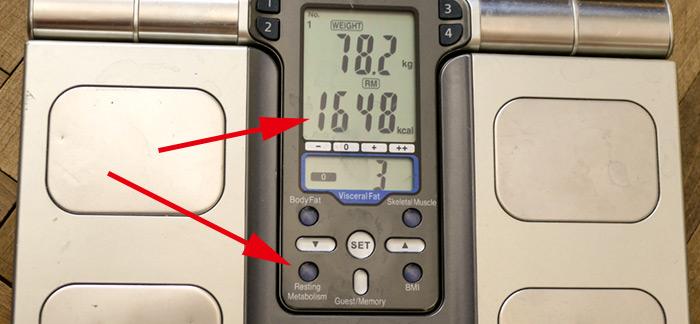 Výpočet bazálneho metabolizmu (BMR) na osobnej váhe